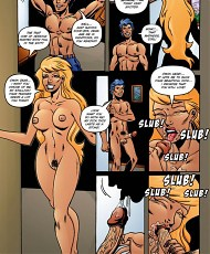 9 pictures of Busty blonde comics hoe getting bubble butt fucked doggy style