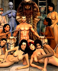 4 pictures of Game heroines rides guys cock in Mass Effect 3D porn
