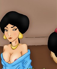 5 pictures of Shy princess Jasmine was seduced and fucked by Aladdin