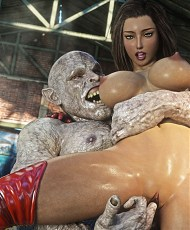 4 pictures of 3D Evil Monsters Comics